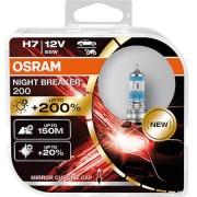 SET 2 BECURI 12V H4 55 W NIGHT BREAKER +200% OSRAM