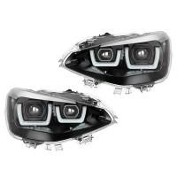 SET 2 FARURI LED PENTRU BMW 1 (F20.F21) (2011-2014) CROM LEDriving HALOGEN LEDHL103-CM OSRAM
