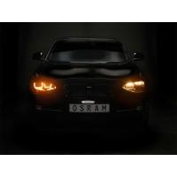 SET 2 FARURI LED PENTRU BMW 1 (F20.F21) (2011-2014) NEGRU LEDriving HALOGEN LEDHL103-CM OSRAM