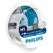 SET 2 BECURI FAR H1 55W 12V WHITE VISION PHILIPS