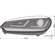 SET 2 FARURI LED PENTRU VW GOLF VI (2008-2012) CROM LEDriving SEMNAL DINAMIC LEDHL102-CM OSRAM