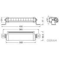 PROIECTOR LED 6000K, 2700 LM - LEDriving LIGHTBAR FX250-SP OSRAM